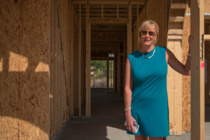 Photo of Lucy Barraza at New Construction site in Framed House